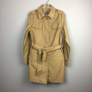 ALMOST BRAND NEW GAP LIGHTWEIGHT TRENCH COAT SMALL